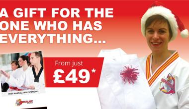We're offering the gift of Martial Arts again this Christmas (for only £49)!