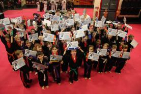 Martial Art World Little Ninjas and Ninja Rangers celebrating their success
