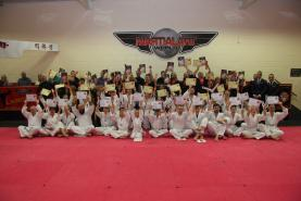 Martial Art World Children & Adult (both male and female) Students celebrating their success