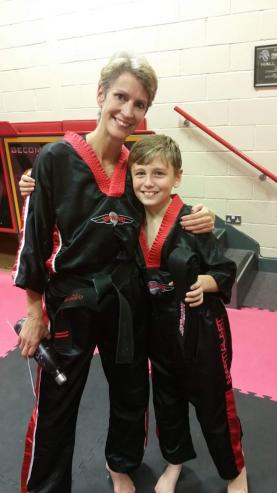 Tyler's with his Martial Arts instructor